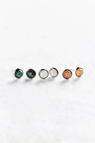 jewels earrings set colorful