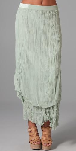 Alice   olivia july layered maxi skirt