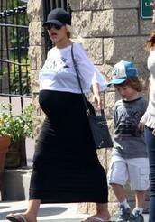 top,christina aguilera,shoes,bag,maternity