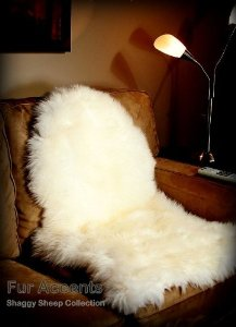 Amazon.com - Fur Accents White Faux Sheepskin / Area Rug / Chair Cushion Pad / Ultra Suede Back / Sheepskin Shape / 2'x4' -