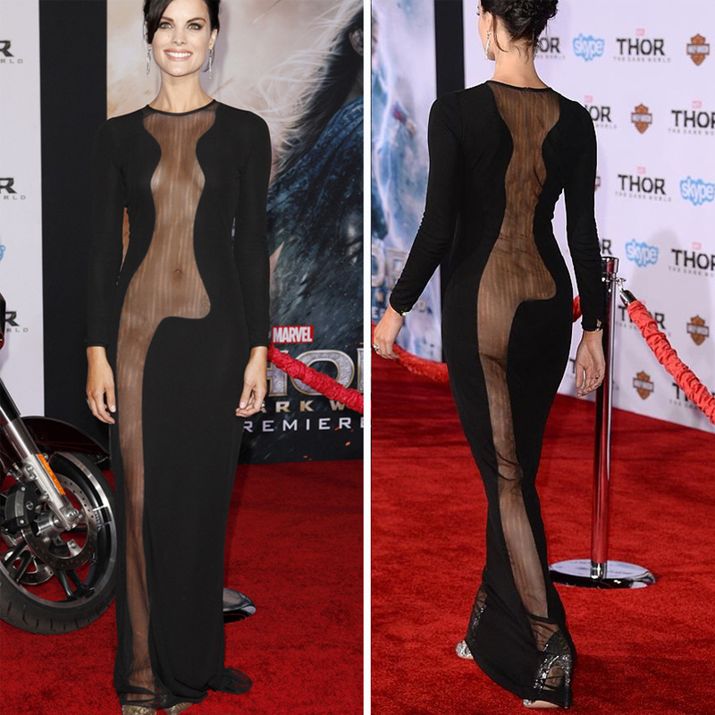 Sexy elegant show body dress