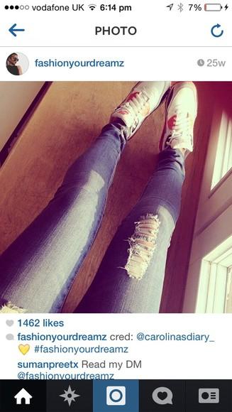 jeans skinny jeans ripped jeans denim skinny