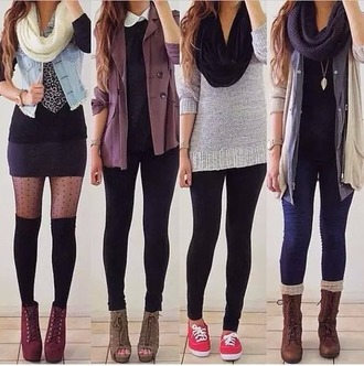 jumpsuit girl shirts echarpe hiver fashion lookbook color