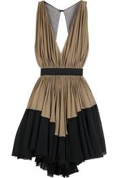 dress,evening dress,v neck,black dress,asymmetrical,clothes,pinterest,blackdresses,party dress,low back dress,little black dress