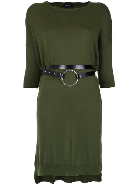 dress knitted dress women green