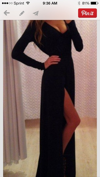 dress black maxi dress black maxi dress long sleeves black or white