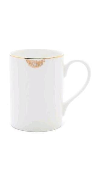 girly mug lips gold christmas gift