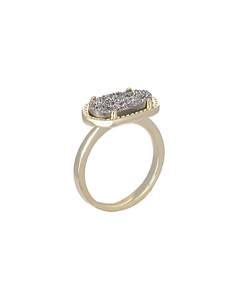 Ella Ring in Platinum Drusy - Kendra Scott Jewelry