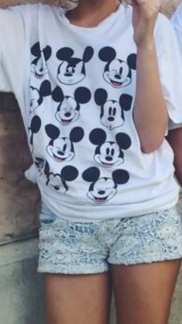 mickey mouse shirt tshirt white hipster indie vintage disney