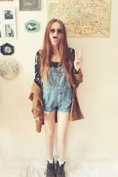 romper,shortall,denim,cute,outfit,tumblr,jumpsuit,denim overalls