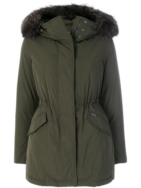 parka fur fox women green coat