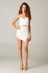 Kimberly Asymmetrical Dress In White – Huria Boutique