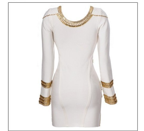 Outletpad | Low back white or black with gold dress | Online Store Powered by Storenvy