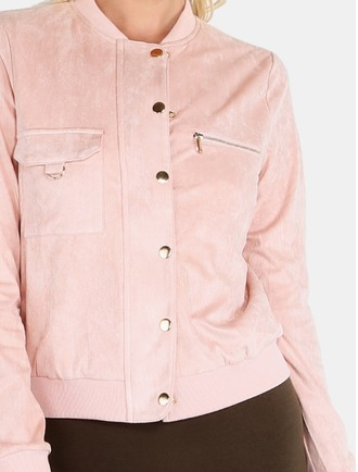 jacket girl girly girly wishlist pink pink jacket suede suede jacket velvet cute button up