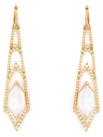 long earrings metallic jewels
