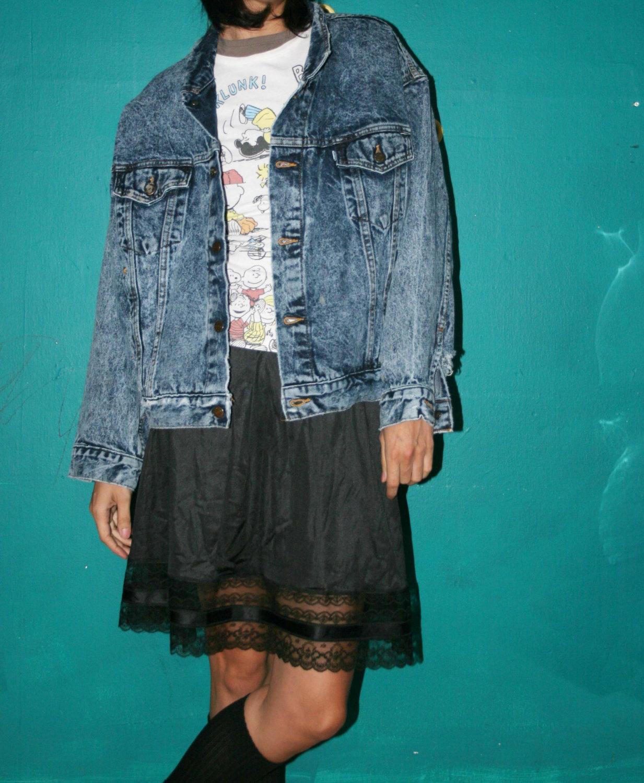 Diatressed vintage levi's acid wash jean jacket/ 80s acid wash denim jacket /80s normcore unisex jean jacket