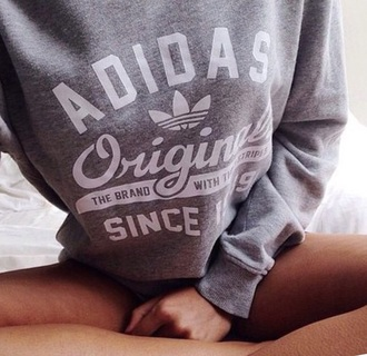 sweater adidas grey jumper swag edgy grunge brand yolo