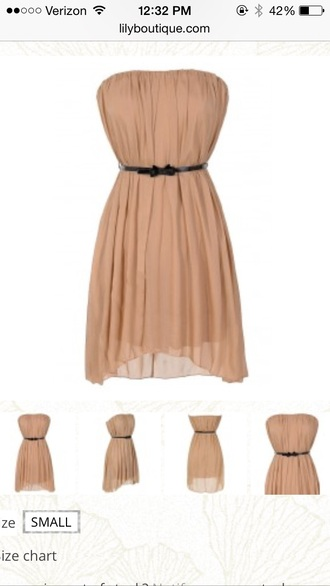 dress cute spring summer pretty strapless style chiffon dress casual simple dress lilyboutique