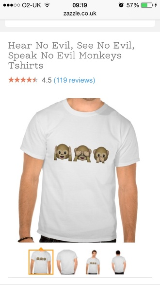 t-shirt emoji tee