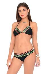 top,dd,bikini top,black,luli fama,print,triangle,bikiniluxe,swimwear,bikini luxe,bottom,traingle,bikini