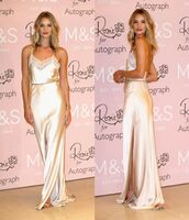 dress,gown,silk,maxi dress,rosie huntington-whiteley,shoes,sandals