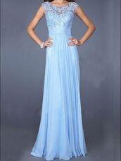 dress,lace,blue,light blue,chiffon,polyester,formal,prom,fancy,party,pretty,long dree,long dress,bridesmaid,wedding,beautiful,elegant,mesh,long,special occasion,prom dress,long prom dress,chiffon prom dress,blue prom dress