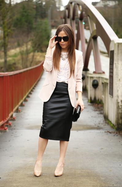 dress corilynn blogger skirt top jacket bag shoes sunglasses