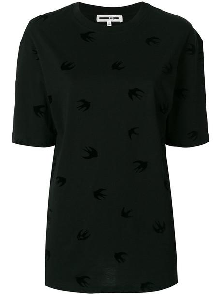 McQ Alexander McQueen t-shirt shirt t-shirt mini women cotton black top