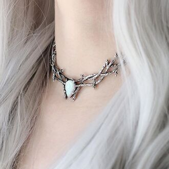 jewels shop dixi choker necklace necklace boho thorn goth