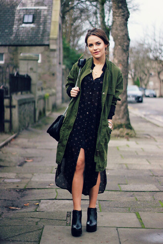 the little magpie blogger jewels bag dress parka black shoes