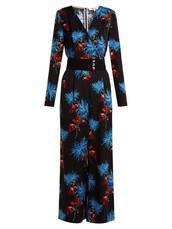 jumpsuit,floral,print,black