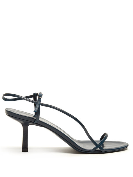 THE ROW Mid-heel slingback sandals in green