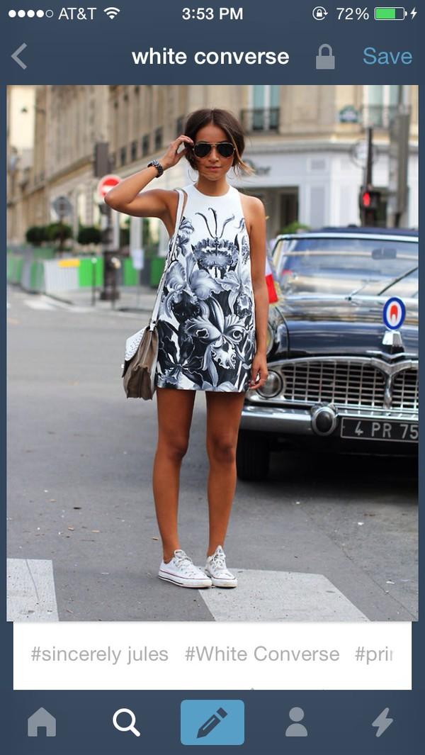 dress white dress white black converse high top converse converse summer dress sunglasses style summer outfits