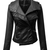 ROMWE | Sheer Black PU Jacket, The Latest Street Fashion