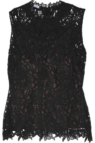 top lace top lace black