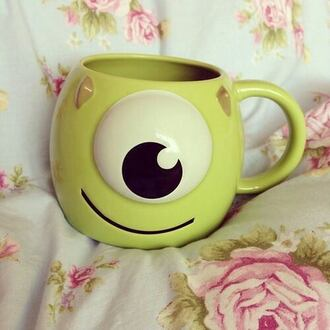 monster inc cute green monster university monster mike wazowski jewels mug coffee breakfast monsters inc monsters university pixar smile weheartit home accessory cups cup bag green accessoarers monsters monsters inc. monsters' university green monster cuties accessories not clothes movies childish green accessories sweater disney