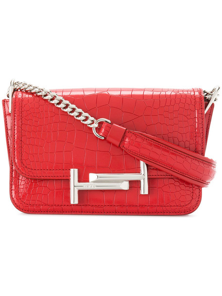 TOD'S mini women bag crossbody bag leather red