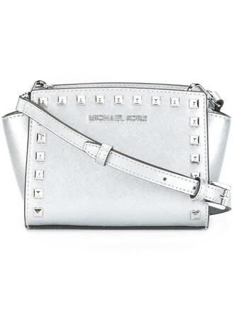 mini women bag crossbody bag grey metallic