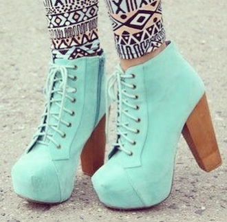 shoes mint boots heel