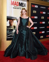 dress,prom dress,gown,christina hendricks,wedding dress
