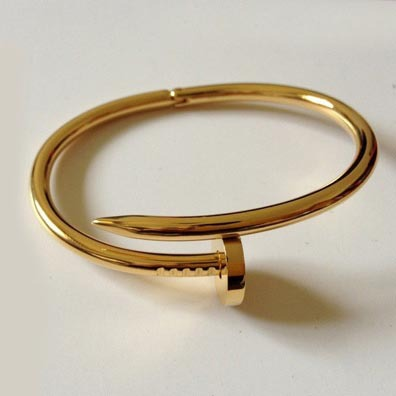 New Arrived TOP QUALITY Brand Women's 18K Rose Gold Bangle H Nail Cuff Bracelets & Bangle Free Shipping-in Cuff Bracelets from Jewelry on Aliexpress.com
