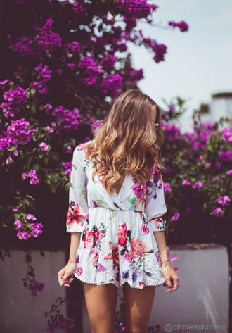 jumpsuit floral romper white kenza flowers summer outfits casual