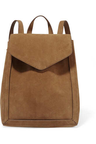 backpack suede light brown bag