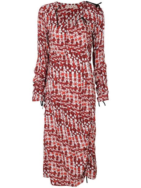 MARNI dress print dress women print psychedelic red