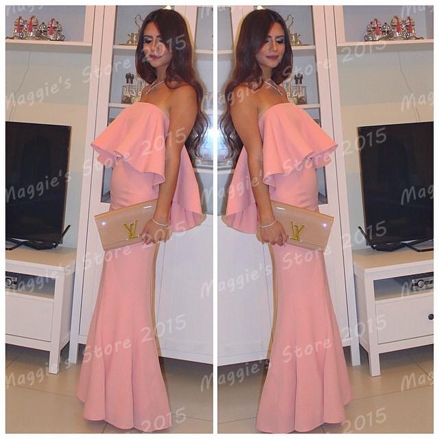 Aliexpress.com: Comprar 2015 hot! elegante sirena rosada vestidos ...