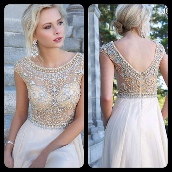 dress prom dress beaded prom jovani prom dress