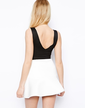Fashion Union | Fashion Union Crop Top With Plunge Neckline at ASOS