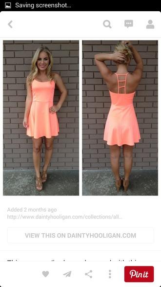 dress coral dress summer dress cute dress