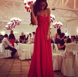 dress maxi dress prom dress red dress red beautiful red dress long prom dress long red dress