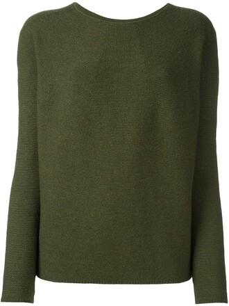 jumper women wool green sweater
